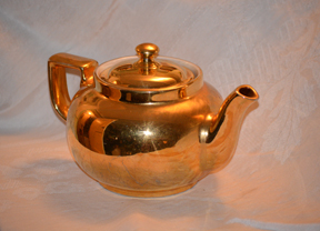 photograph of a tea pot