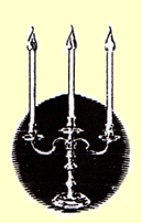 This image of a Candelabrum is the symbol for Concerts by Candlelight a chamber music series held each summer at Laurel Hill Mansion in Philadelphia PA