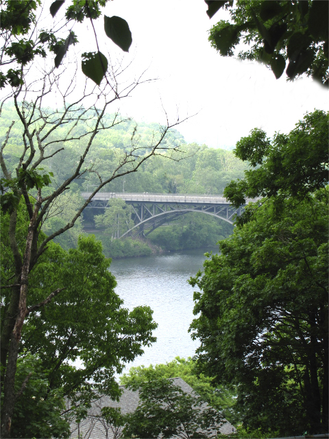 A beautiful view of the schuylkill river from Laurel Hill Mansion