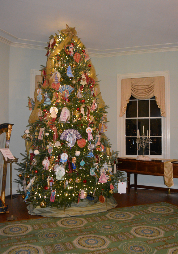 this years christmas tree at laurel hill mansion - Mansion Christmas Decorations