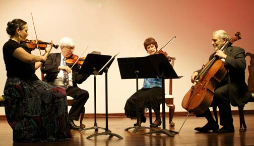 Photograph of the Wister Quartet performing